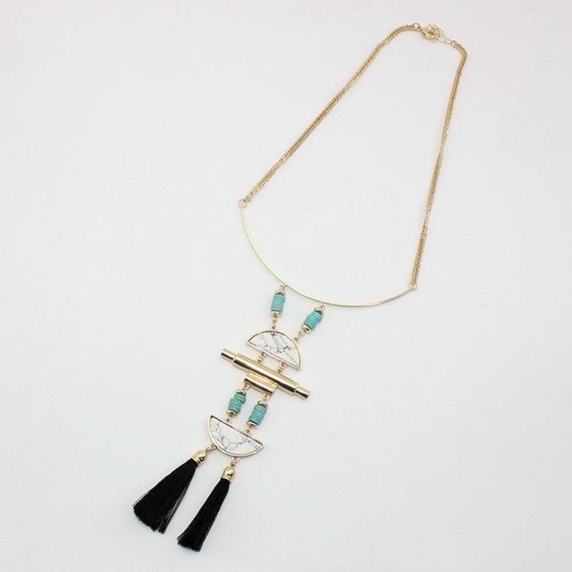 Chicvie бусы ожерелье длинные кисточки ожерелья и подвески для