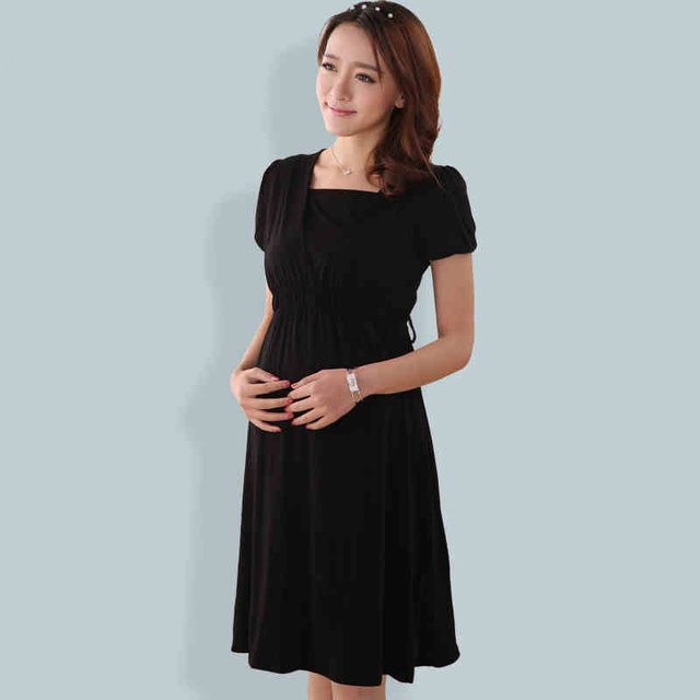 Pregnancy Clothes Dress For Pregnant Women Summer Cotton Striped Maternity Dress For Lactation Clothes Maternity Tunic 602014