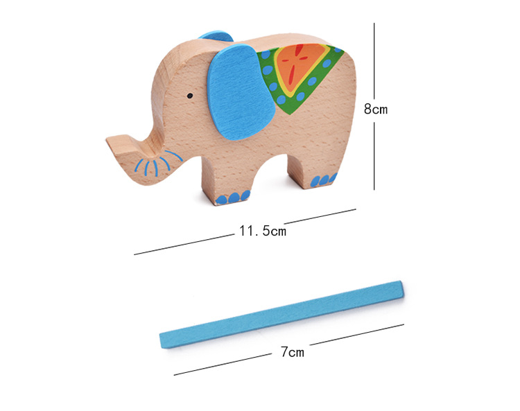 Cartoon Baby Educational Toys Elephant/Camel Balancing Blocks Wooden Toys Colorful Wood Balance Beam Game Gift For Children