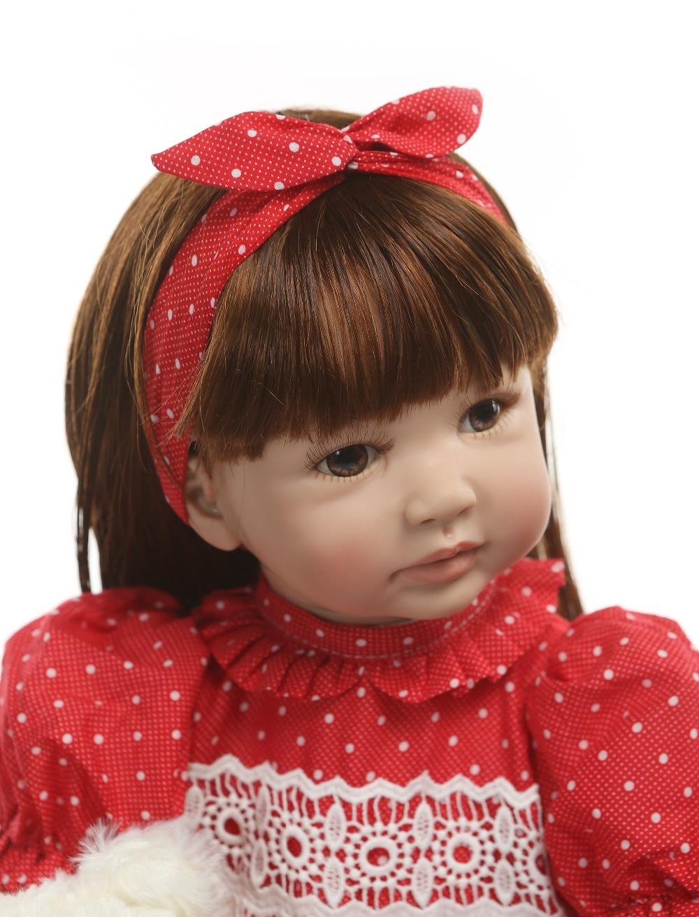 Oyuncaklar ve Hobi Ürünleri'ten Bebekler'de 60CM reborn yürümeye başlayan kız prenses El Yapımı lol bebek Silikon vinil adora Bonecas kız çocuk bebes reborn 6 9M gerçek boyut sürpriz'da  Grup 3