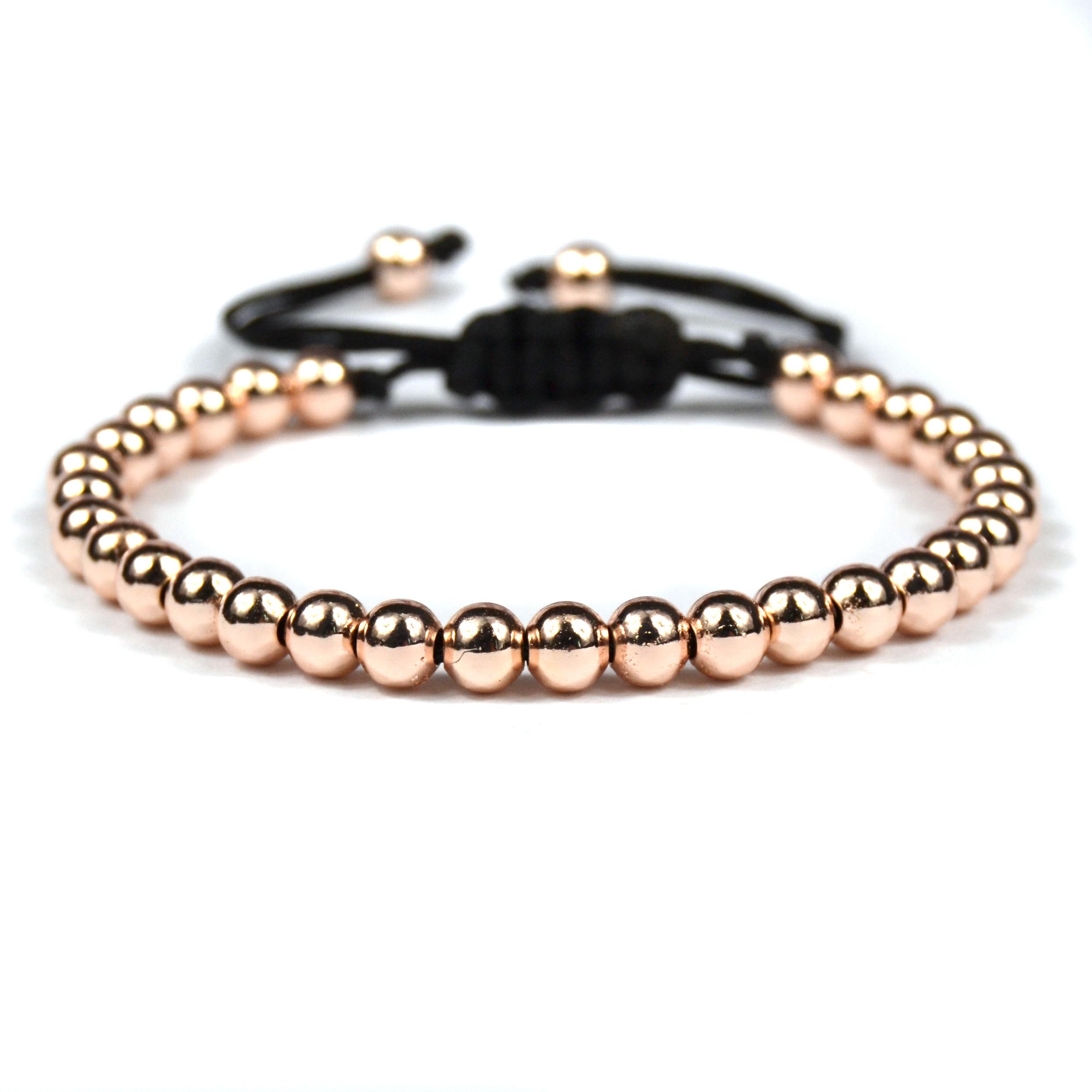 Bracelet homme perle or