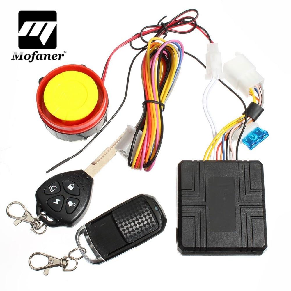 12v Universal Motorcycle Motorbike Scooter Compact Security Alarm System Remote Control Engine Start For Suzuki /Honda /Yamaha