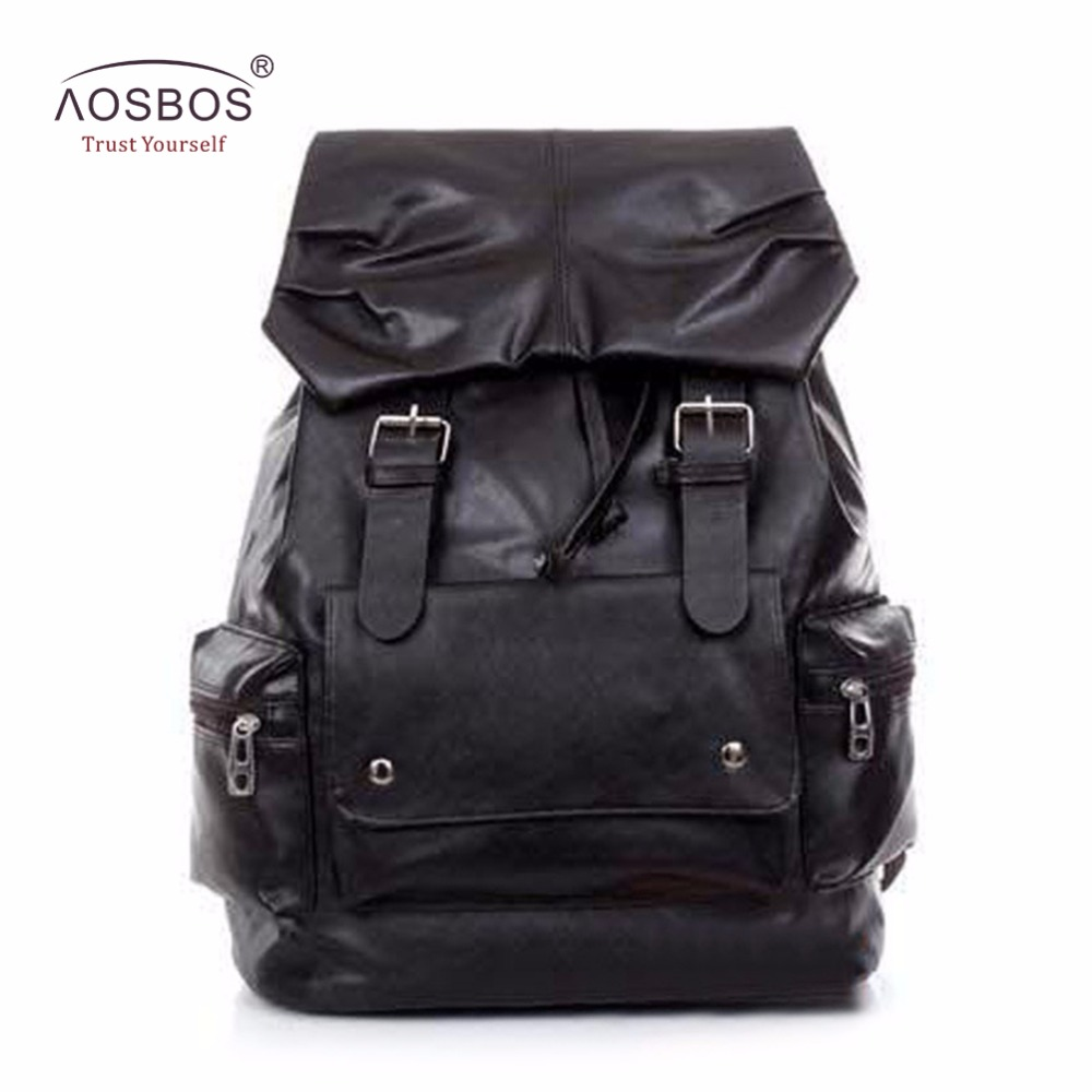 New Arrival Large Capacity Men Women Backpacks Fashion Solid School Backpack Travel PU Leather individuality Bag for Male Female yeetn h 2017 new ma n backpack grain pu leather black fashion backpack travel bag for male free shipping y1185