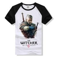 The Witcher 3 T Shirt Witcher3 Wild Hunt Geralt Of Rivia T Shirt Men Women Tshirt