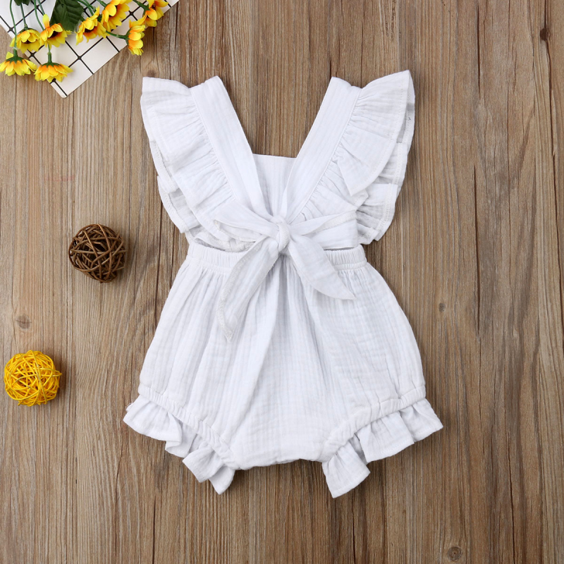 HTB1 R85aE rK1Rjy0Fcq6zEvVXav 6 Color Cute Baby Girl Ruffle Solid Color Romper  Jumpsuit Outfits Sunsuit for Newborn Infant Children Clothes Kid Clothing