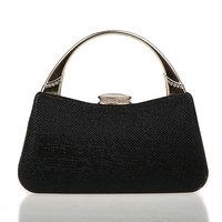 HOT 2016 Noble Black Chinese Women's Wedding Evening Bag Clutch handbag Mujeres Bolso Fashion Bride Party Purse Makeup Bag F918A