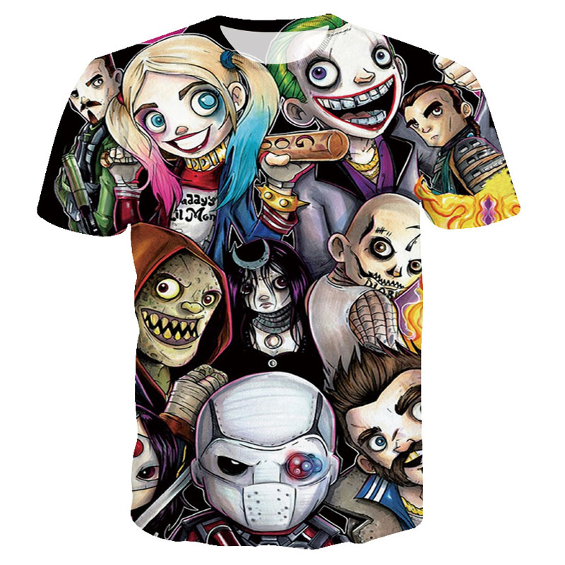 Women Harley Quinn Deadpool T Shirt The Joker Suicide Squad Men Tee Shirt Homme 3D Camiseta Shirts Hip Hop Tees Clothes