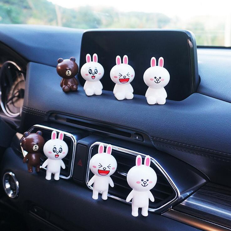 Air Freshener Punctual Car Outlet Perfume Cute Puppy Dog Automobiles Air Freshener Car Ornament Solid Fragrance Air Conditioner Outlet Clip Auto Decor