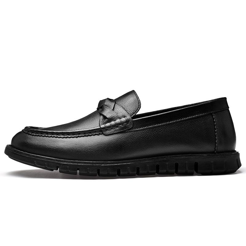 CLAX رجل الأحذية الجلدية جلد طبيعي عارضة الأحذية الذكور مصمم المتسكعون تنفس الصيف الخريف الترفيه حذاء قارب الأحذية-في أحذية رجالية غير رسمية من أحذية على  مجموعة 3