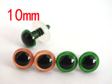 10mm orange and green Safety Eyes for Amigurumi or Plush font b toy b font accessories