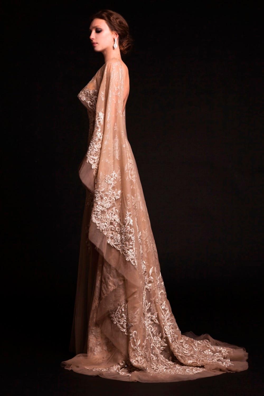 Bridal Wedding Dress with Cape