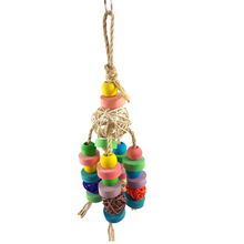 Parrot Bird Toy Colorful Sepak Rattan Balls Hang Beak Grinding Cages Bite Chewing Toys cage decoration accessories