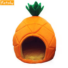 Petshy kennel Cat Nest Creative Cute Pineapple Pet House Sleep Basket Fruit Pets Room Warm Comfortable Cotton Small Dog Bed Sofa