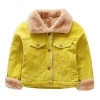 Children S New Fashion Coat Boy With Velvet Jacket Inside Boy Casual Solid Color Coat Children