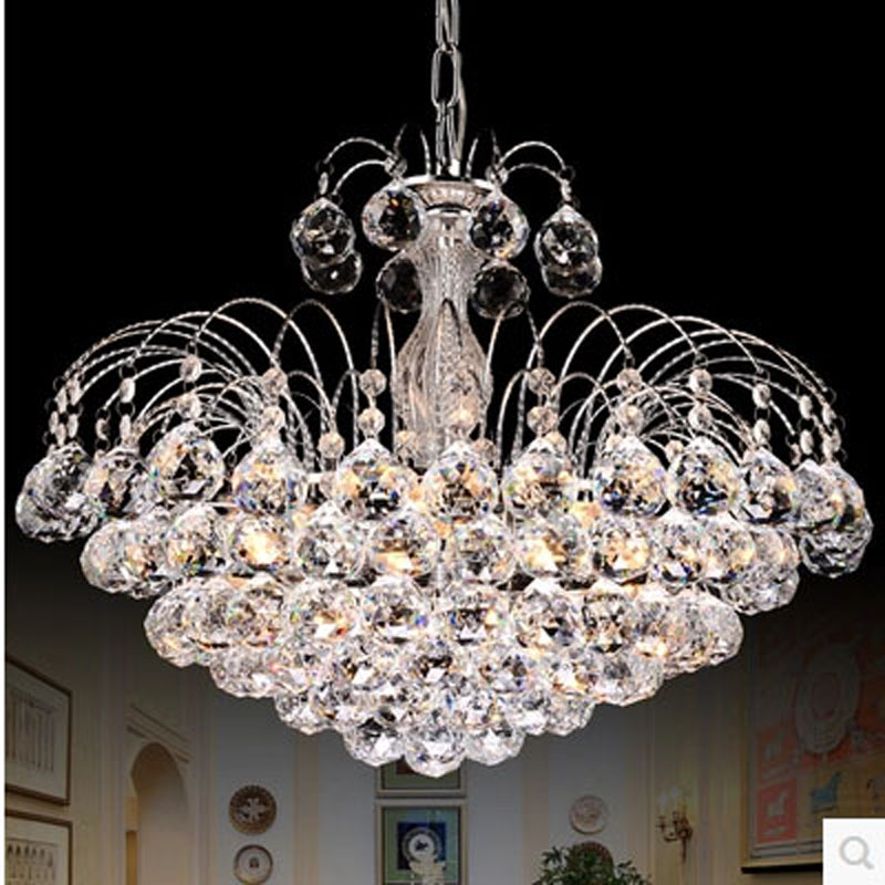 Modern minimalist living room crystal chandeliers Creative bedroom dining room chandeliers Home crystal chandeliers LED lighting цена 2017