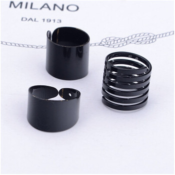 Women's Minimalistic Phalanx Rings 3 pcs Set Jewelry Rings Women Jewelry Main Stone Color: Multi
