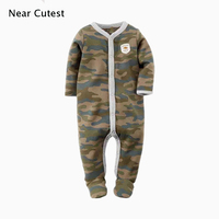 2015 Autumn Winter Baby Jumpsuit 100 Cotton Baby Boys Girls Clothes Long Sleeve Baby Romper Newborn