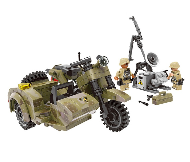 XINGBAO PUBG Classic City Military War Battle Motorcycle Model Building Blocks Bricks Kids For Children Toys Compatible Legoings