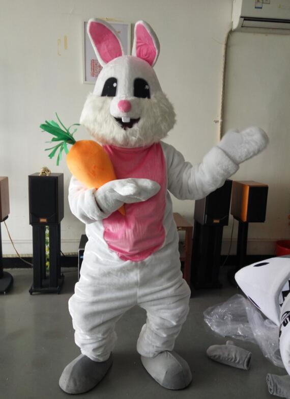 На заказ Пасхальная эмблема кролика костюмы Рождество День рождения женский мужской костюм маскот необычный праздничный наряд взрослый ра