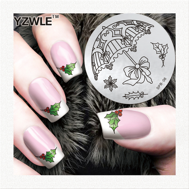 Yzwle Christmas Designs Nail Stamp Decoration Professional Stamping Stainless Steel Image Plates For Manicure Salon
