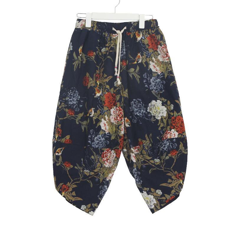 2019 Spring Summer Women Casual   Pants     Capris   Cotton Linen Wide Leg   Pants   Loose Large Size Print Harem   Pants   Female LY337