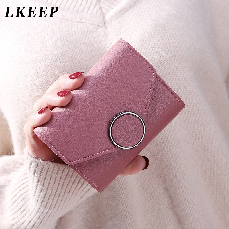 Matte Leather Small Women Wallet Luxury Mini Women Wallets And Purses Short Female Coin Purse Credit Card Holder