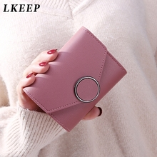 Matte Leather Small Women Wallet Luxury Mini Women