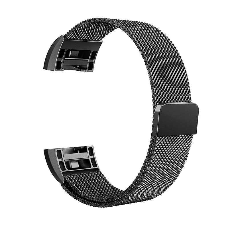 2017 Hot sale  Stainless Steel Luxury Loop Watch Band Wrist Strap for Fitbit charge2 Metal Bracelet