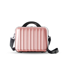 Japan And Korean Style Portable Cosmetic Bag Ladies All-match Scratch-resistant PC Shoulder Bag Women Small Simple Makeup Bag(China)