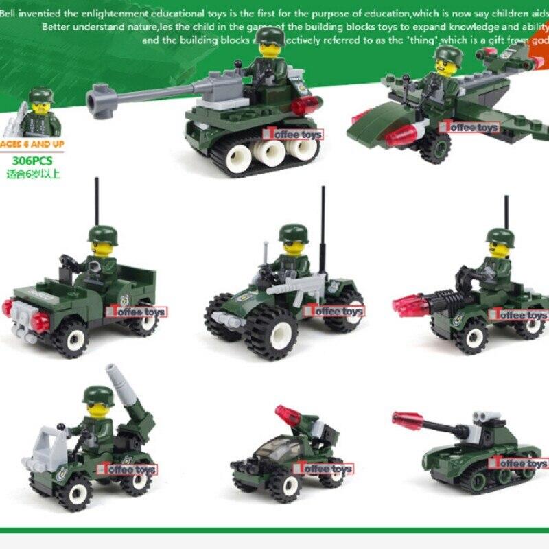 2017 New Mini Military Army Blocks Car Tank Swat Weapons Soldiers