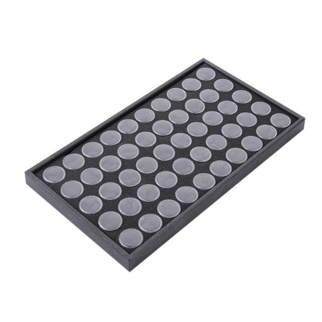 50 ranuras para manicura de uñas vacías caja de almacenamiento soporte para uñas puntas de arte joyería polvo diamantes de imitación gemas palillos contenedor herramientas de uñas