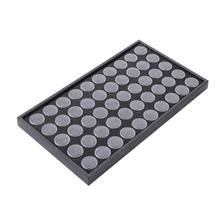 50slots Empty Nail Manicure Storage Box Case Holder Nail Art Tips Jewelry Powder Rhinestones Gems Sticks Container Nail Tools
