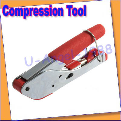 Free shipping+CABLE PRO COMPRESSION TOOL COAXIAL CRIMPER F RG6 RG59 Useful practical