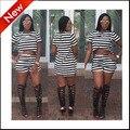 Лето 2016 компл. для женщин из двух частей короткие брюки набор сексуальная коротким рукавом горячая пант полосатый печати горячая продажа моды новый