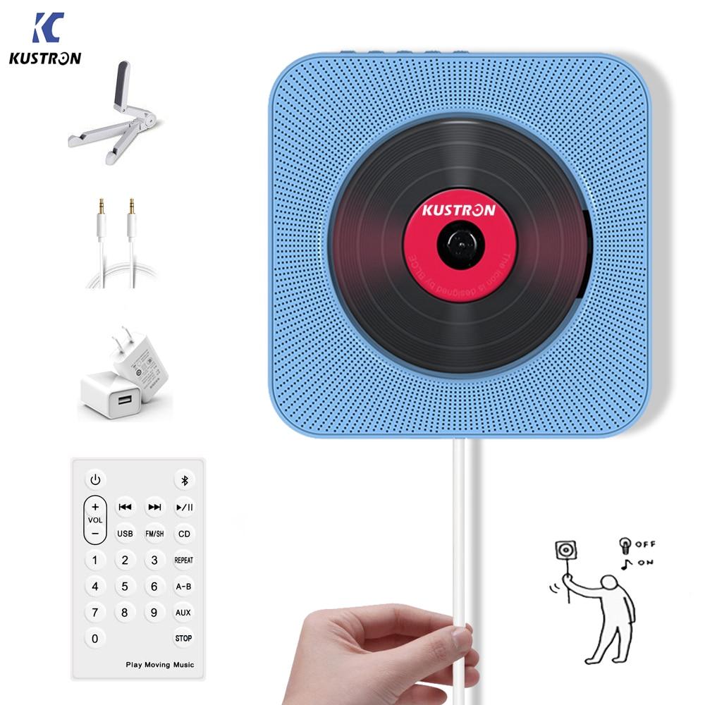 KUSTRON mural montable lecteur cd Portable maison haut-parleur éducation prénatale éducation précoce anglais utilisation Bluetooth haut-parleur
