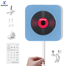 Kustron 벽 마운트 가능 cd 플레이어 휴대용 홈 오디오 스피커 산전 교육 조기 교육 영어 사용 블루투스 스피커