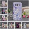 Abstract Flower Painting Slim Thin Clear Soft TPU Capa Case For Samsung Galaxy J5 (2016) J510 Cartoon Fundas Phone Cases