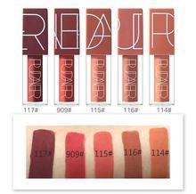 10set Pudaier Brand 5 Color Lip Gloss Matte Liquid Lipstick Set Nude Brown Chocolate Rose lipstick kit lips Waterproof