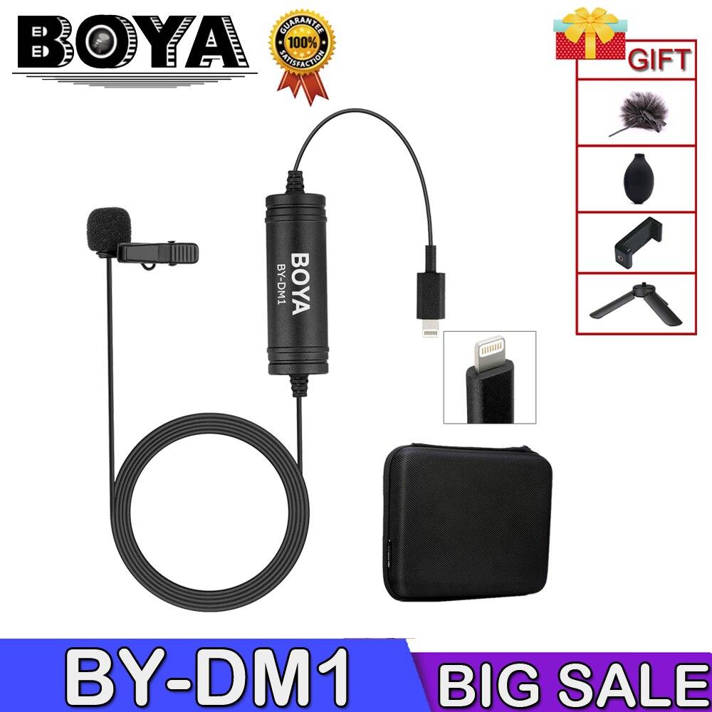 Boya By-Dm1 Microphone de Lavalier professionnel pour Iphone X/8/8plus/7/7plus Ipad Mini 4/3/2 Ipad Pro Ipad Air 2 Ipod Touc
