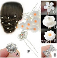 20PCS Wedding Bridal Pearl Flower Crystal Hair Pin Clips Bridesmaid Women Hair Jewelry Wholesale Free