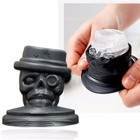 Cool Skull Design Cocktails Silicone Mold Ice Freeze Cube Tray Chocolate Fondant Mould DIY Bar Party