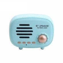 클래식 레트로 Q108 미니 휴대용 블루투스 스피커 무선 FM MP3 플레이어 지원 TF 핸즈프리 카드 마이크 아이폰 삼성