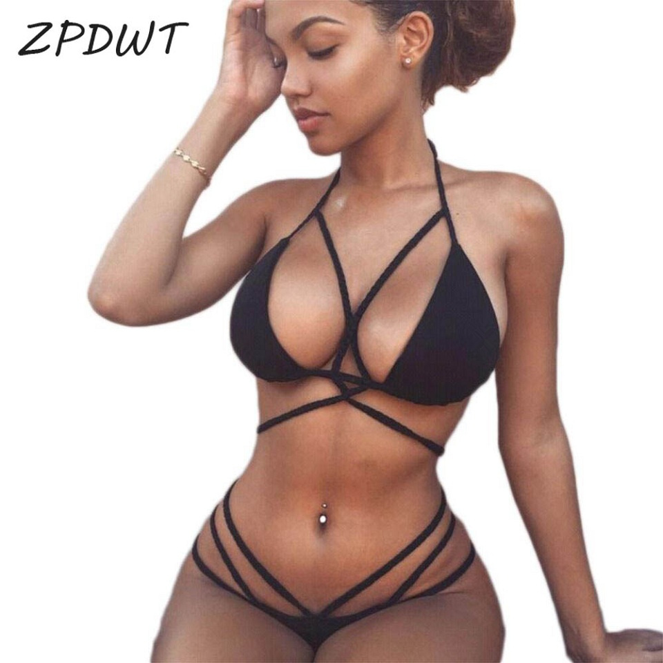 Zpdwt Sexy Braided Rope Bikini 2017 Swimwear Women -7682