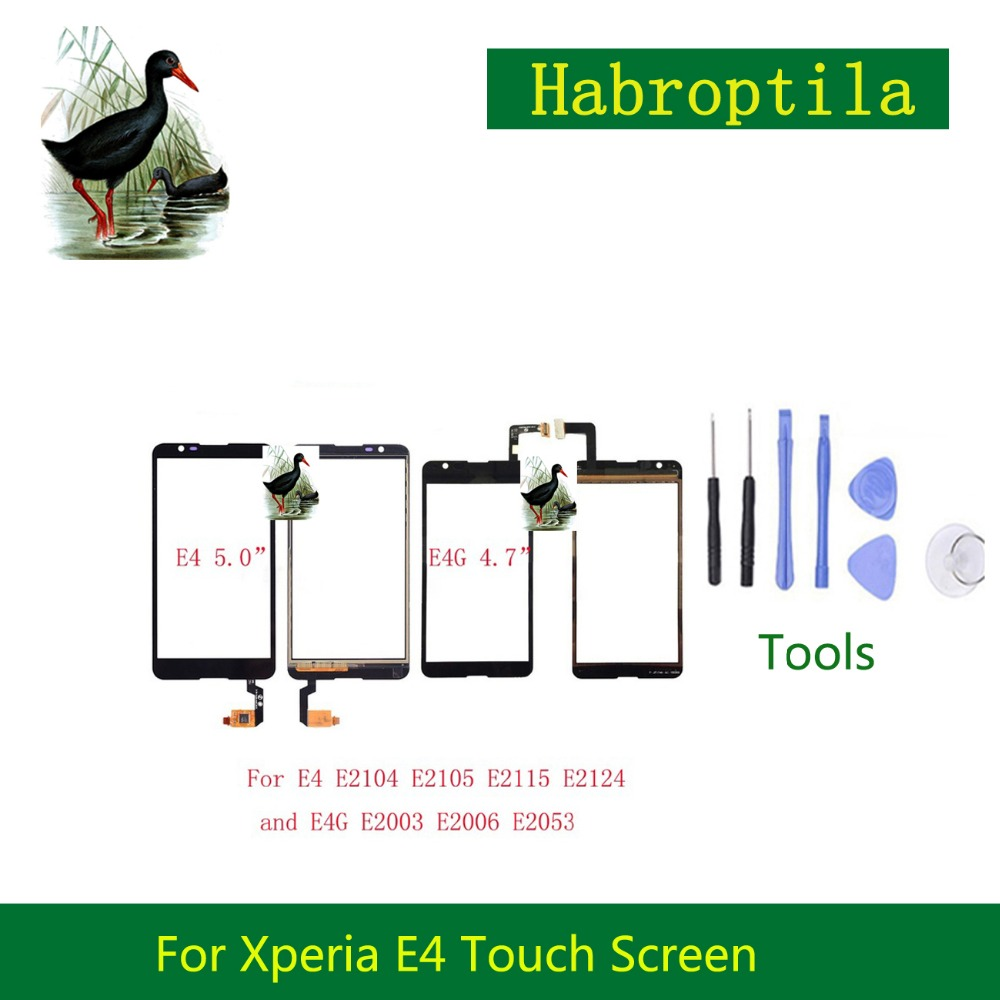 For Sony Xperia E4 E2104 E2105 E2115 E2124 and E4G E2003 E2006 E2053 Touch Screen Digitizer Sensor Outer Glass Lens Panel