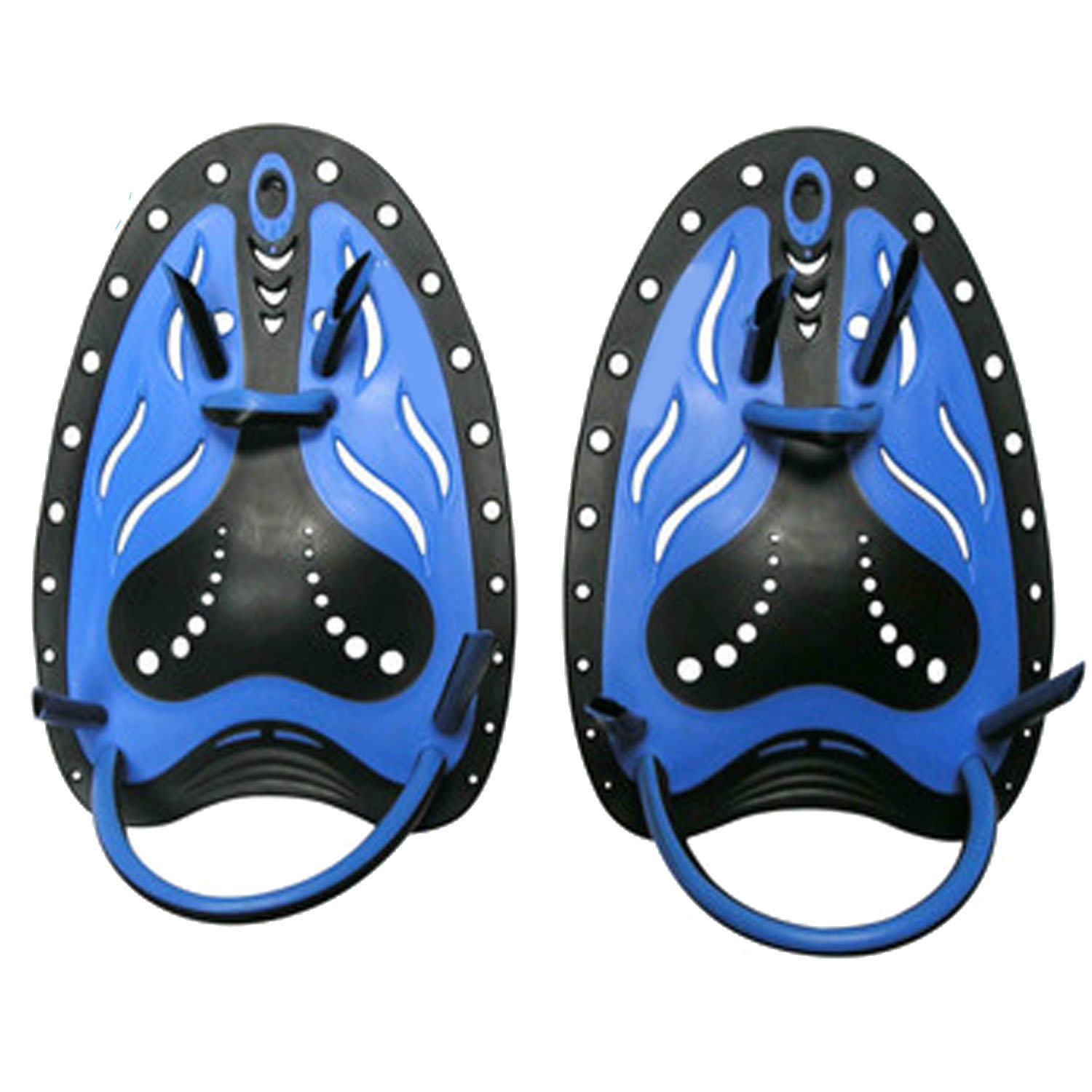 Kids Teenagers Professional Silicone Swim Training Hand Power Paddles with Adjustable Strap for Beginners Athlete Improving Stroke Skills Blue