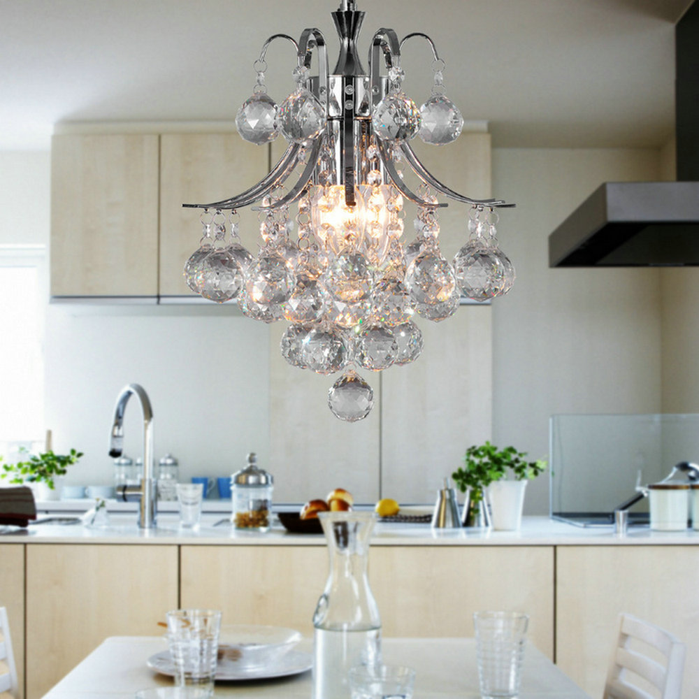 MAMEI Free Shipping 110-240V 3 Lights D30CM K9 Crystal Modern Chandelier For Dinner Room From Manufacture Sales  mamei free shipping 3 lights crystal led pendant light fixtures for dinner room kitchen island led included