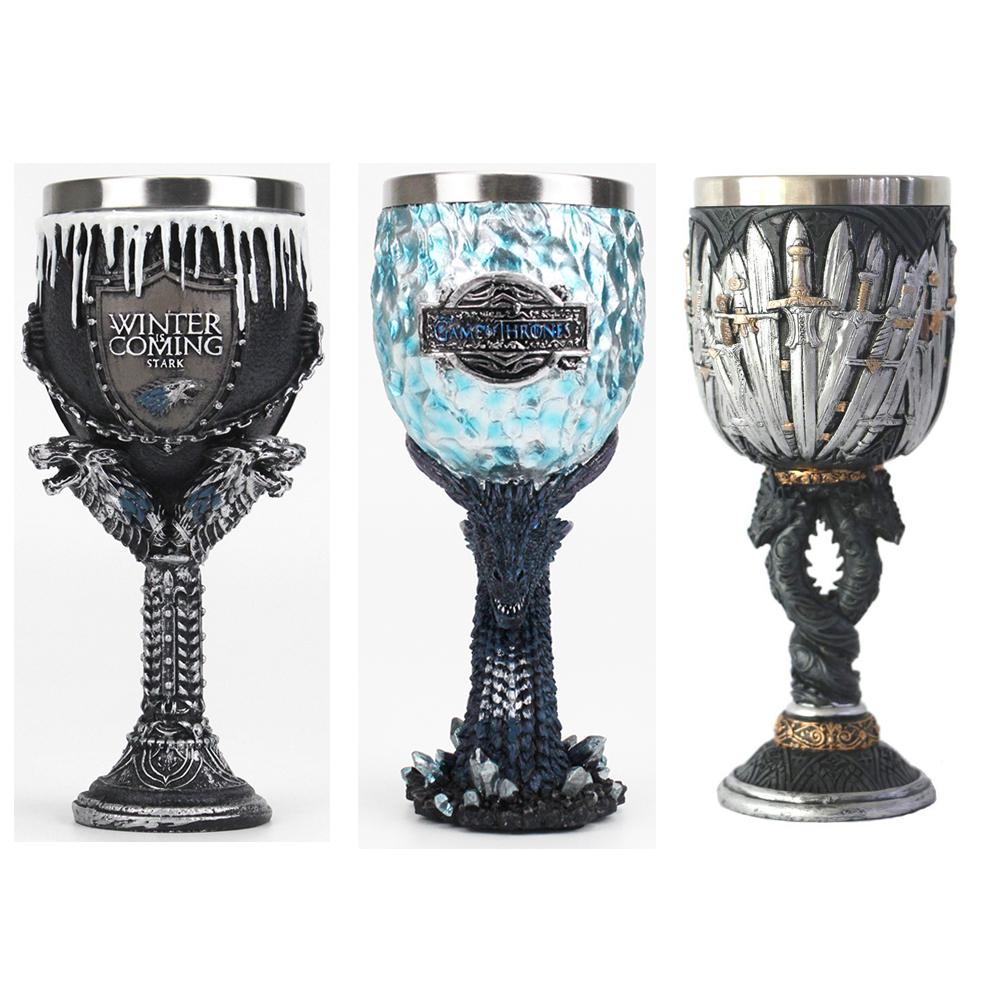 Goblet Game Glass-House Wine Legends-Of-The-Swords Throne Halloween Viserion White Gift