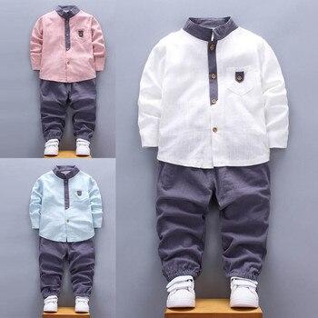 Boys Clothes Formal Party Shirt Tops+Long Pants Clothes Gentleman Kids Clothes Newest Style Roupas Infantis Menino Wholesale Одежда