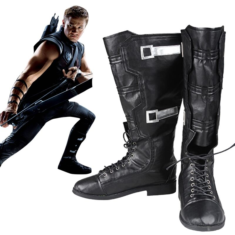 Marvel s The Avengers Hawkeye Cosplay Costume Boots Hawkeye Shoes Costume Cosplay Props Accessories Adult Men