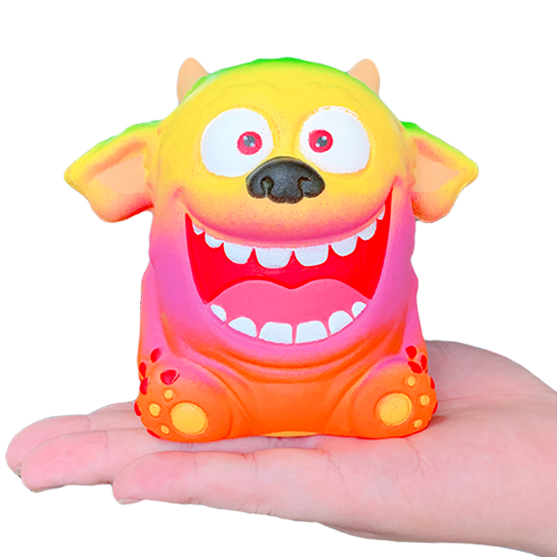 New Jumbo Colorful Monster Squishy Slow Rising Simulation Soft Squeeze Toy Creative Cream Scented Fun For Children Xmas Gift Toy